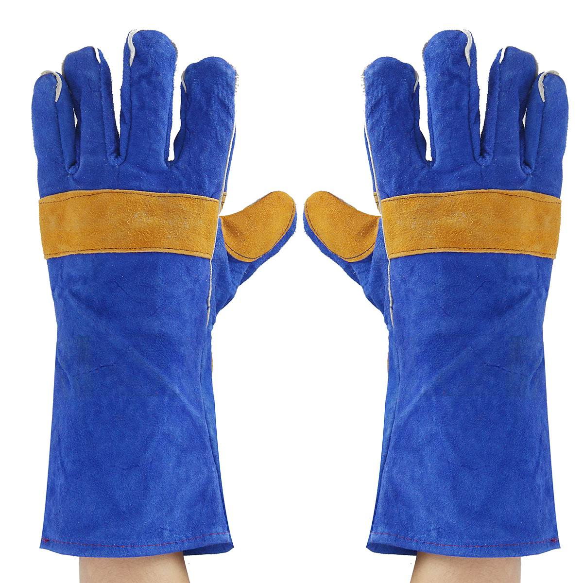 Double Color Welding Leather Gloves