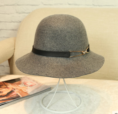 Fashionable sewing wool bucket hat,bowler felt hats