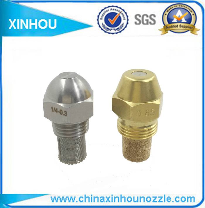 Brass jet gas burner fuel injection nozzle