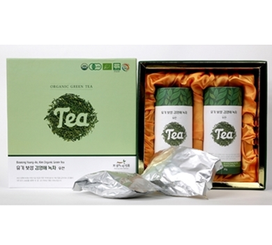 Boseong Young Ae Kim_Orgaic Green Tea 60g set in South Korea
