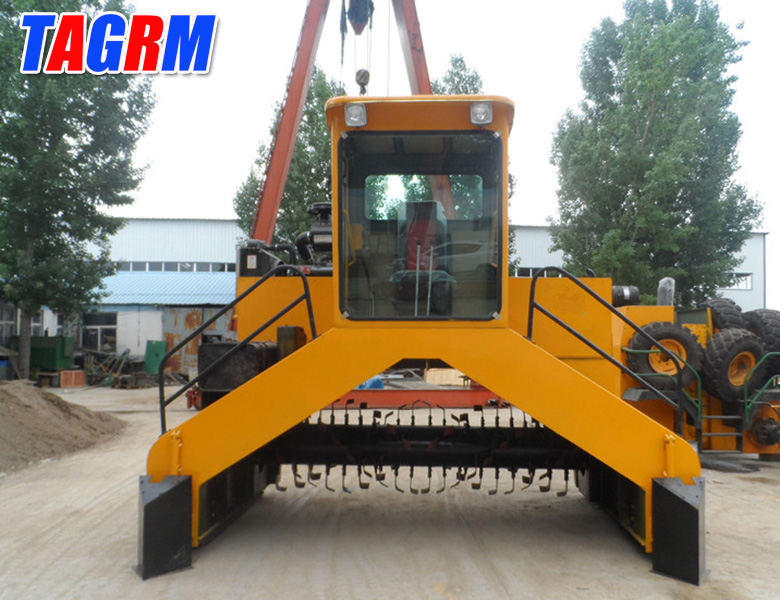 TAGRM hydraulic crawler working system sewage sludge compost turner M3600