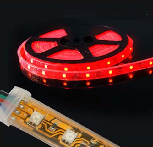 60led/m 12V/24V red color 100% waterproof IP48 5050 led tape light 5m/reel