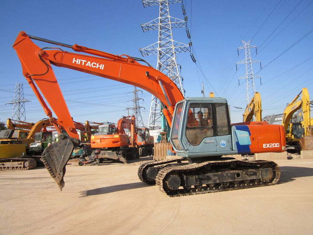 Used hitachi ex200-2 excavator