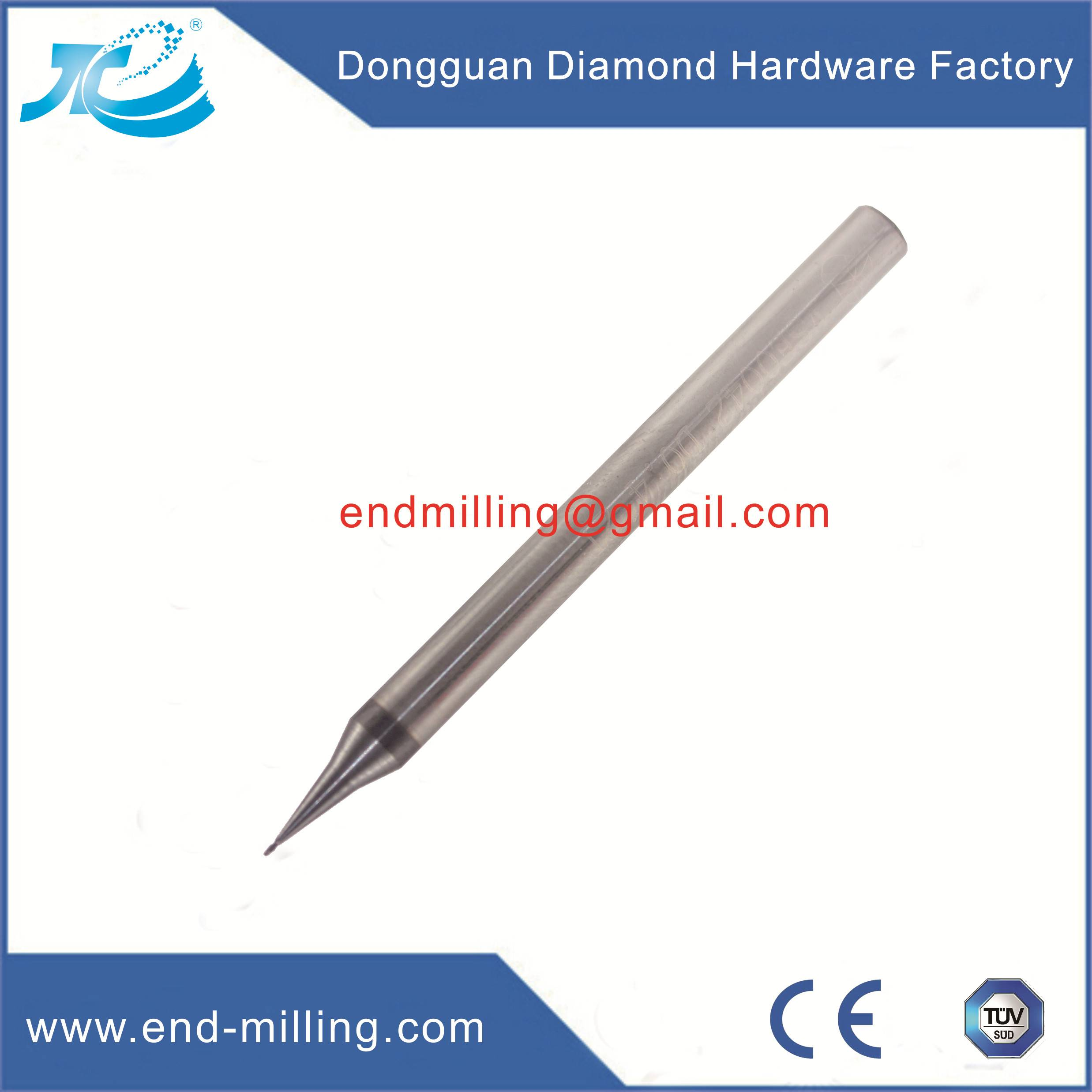 Tungsten Carbide Micro Diameter End Mill