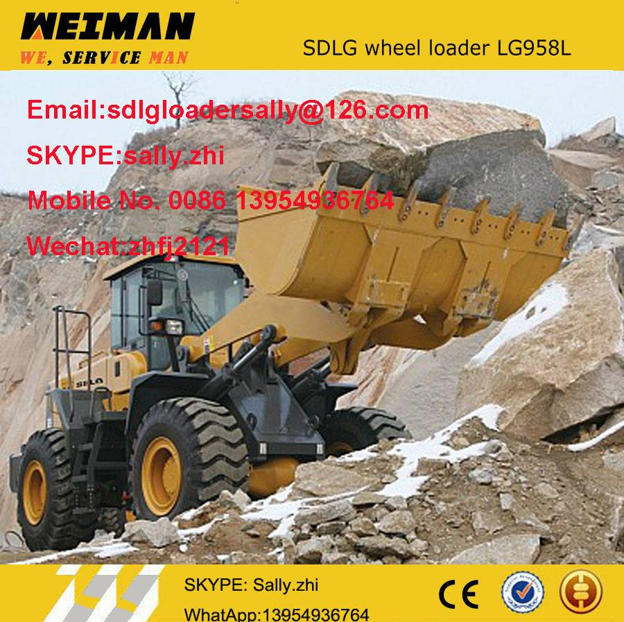 sdlg pay loader LG958L, wheel loader price, farm tools and equipment and their uses