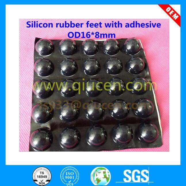 16x8mm Slip Resistance Self Adhesive Silicone Rubber Pads/ Square Rubber Feet / Square hemispherical