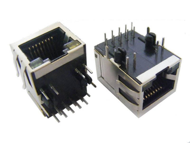 11 Magnetic RJ45 Jack Connector with 1000Mbps transformer
