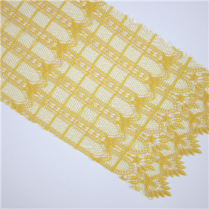 Fashionable embroidery textile 100%polyester voile evening chemical lace fabric