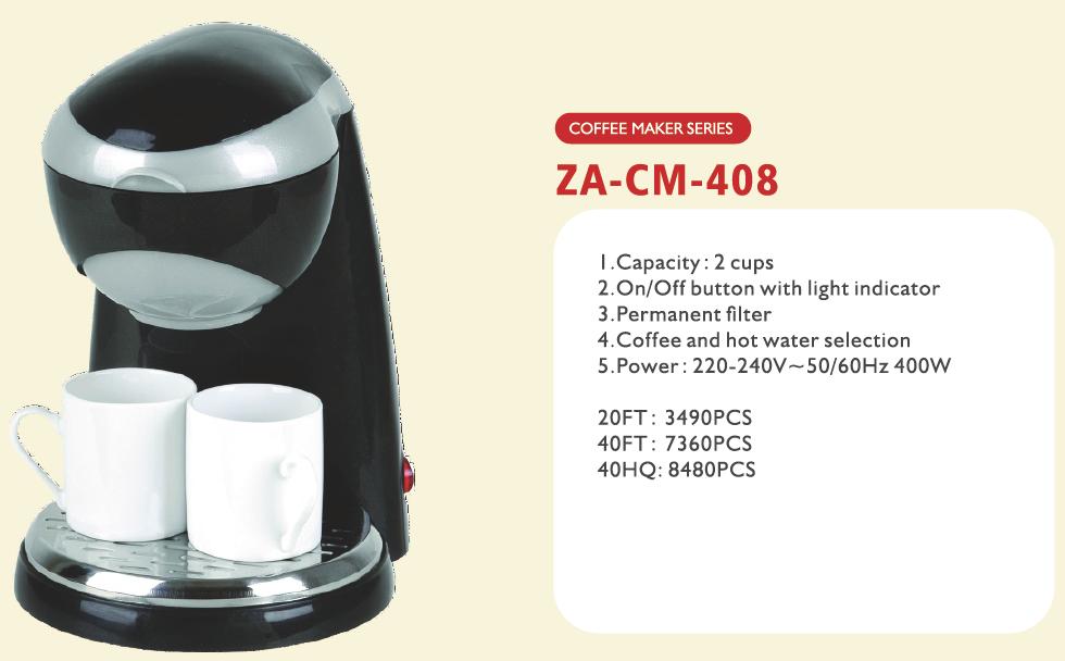 mini Coffee Maker,2 cups capacity,drip type