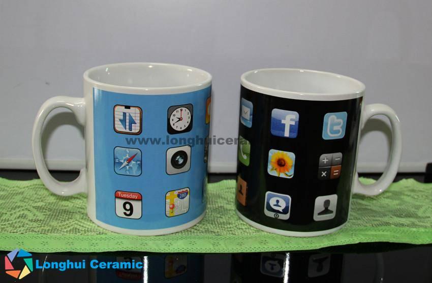 Mobilephone desktop design jumbo ceramic coffee mug