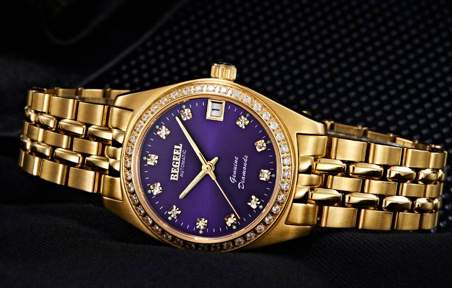 BEGEEL B728 Purple Ladies watch
