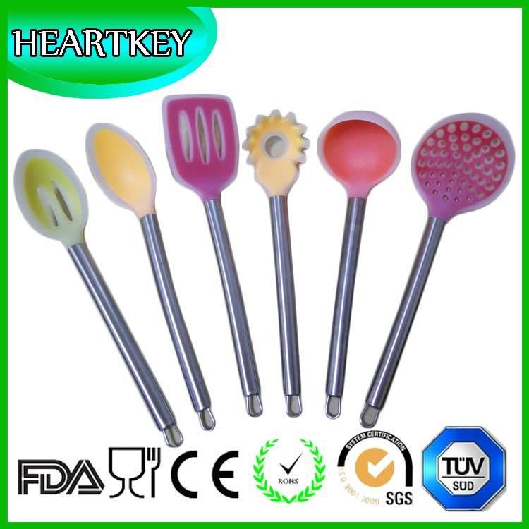 FDA LFGB Standard Easy Flex 3-Piece Silicone Spatula Set, Blue