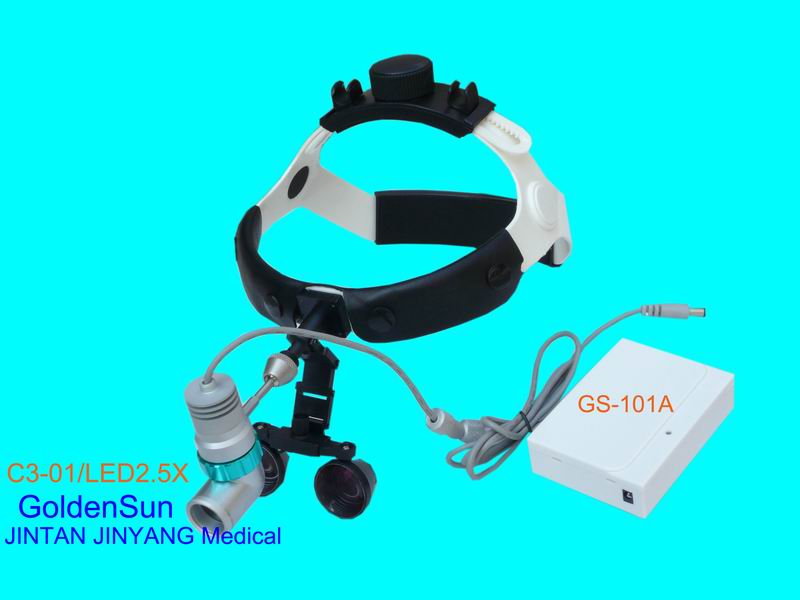 ENT surgical magnifying glass with led head light