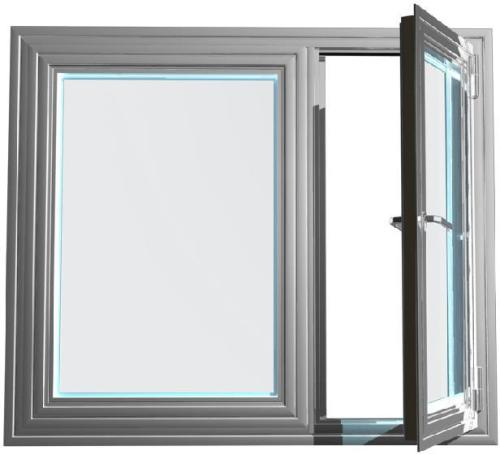 double glazed aluminum casement window for bathroom