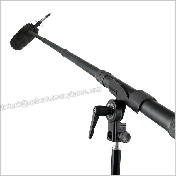 light weight 5 - section microphone carbon fiber Boom Pole /camera pole/ boompole 9FT