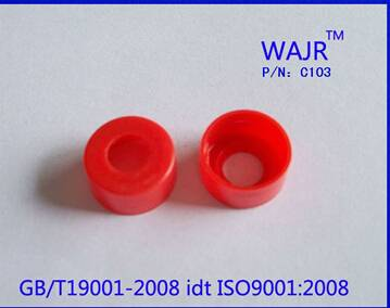 11mm Red Snap-top Polypropylene Cap for autosampler vials