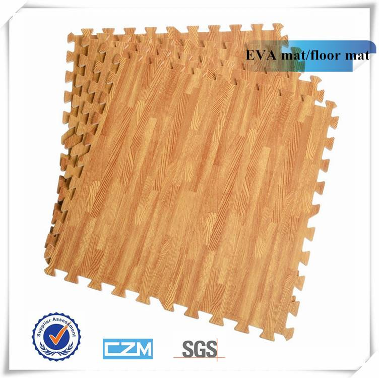 Soft and hot sale wooden patten EVA mat