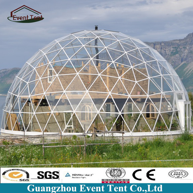 35m Aluminum Structure Transparent Large Dome Tent With PVC Coated