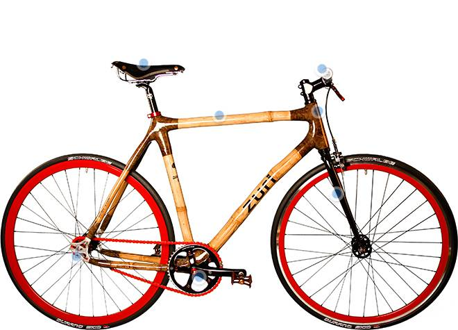 Zuri Urban Fixie Red BAMBOO BIKE