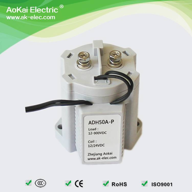 ADH-50 energy saving electric winch car motor use main circuit 50A 500V DC coil voltage dc contactor