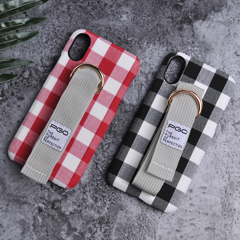 High quality pc covers Cloth sticker phone case for iphone 8