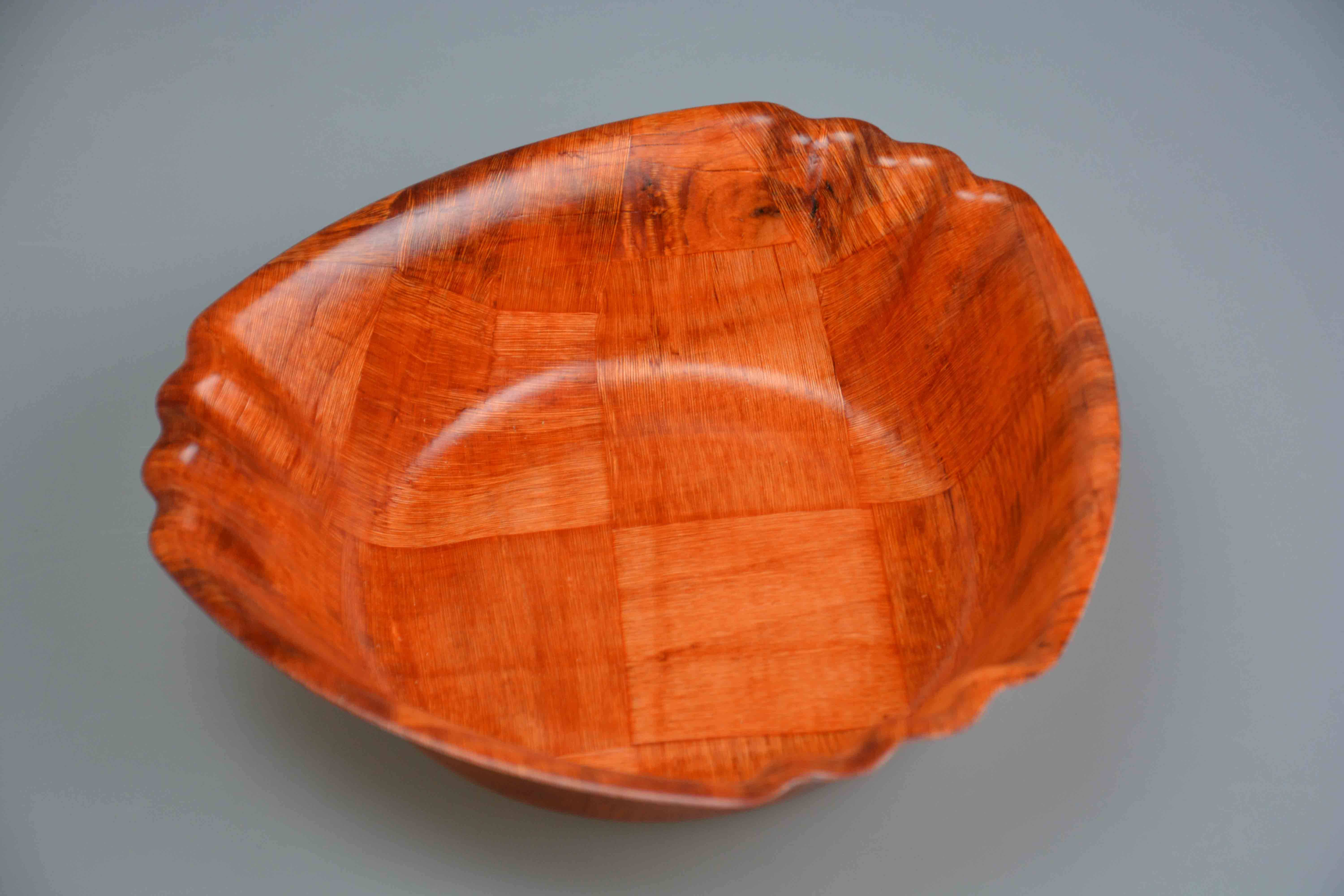 Vietnam Natural Hand Woven Salad Fruit Bowl Made of Bamboo Wooden