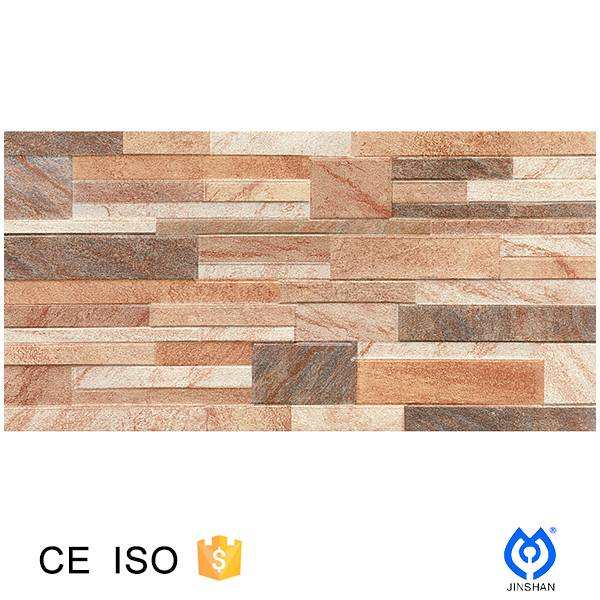 300*600*9mm Ink jet 3D print ,Ceramic stone-look wall tile