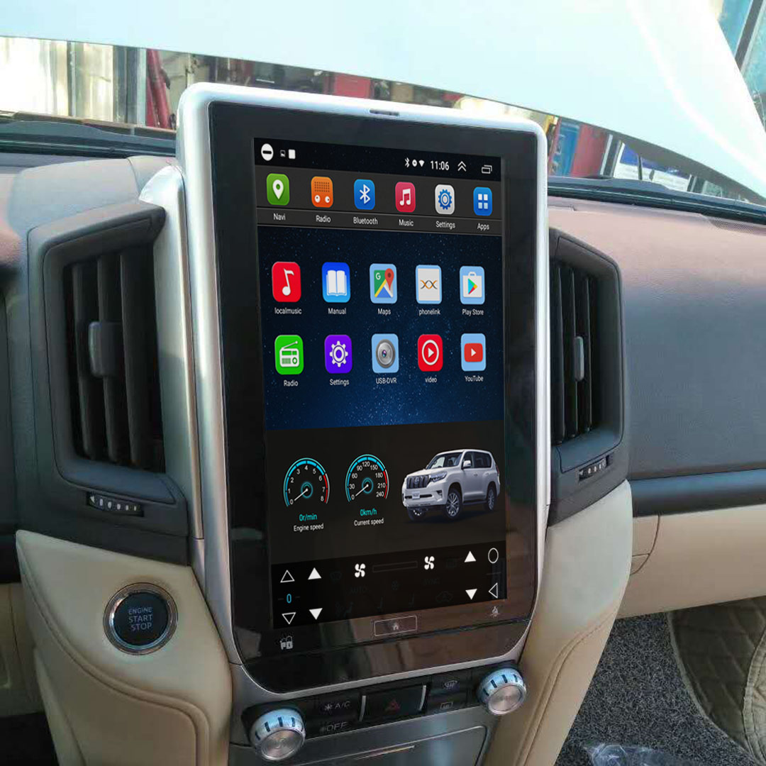 Vertical Screen 13.8 Inch Android Car Multimedia Navigation For Toyota Land Cruiser 2016-2019