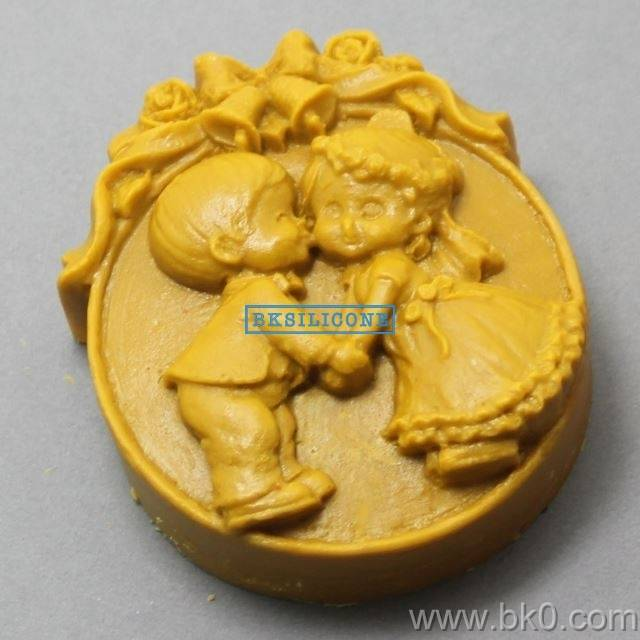 New Boy And Girl Wedding Mold Angel Soap Mold  Silicone Mold Chocolate Cake Mold AA013