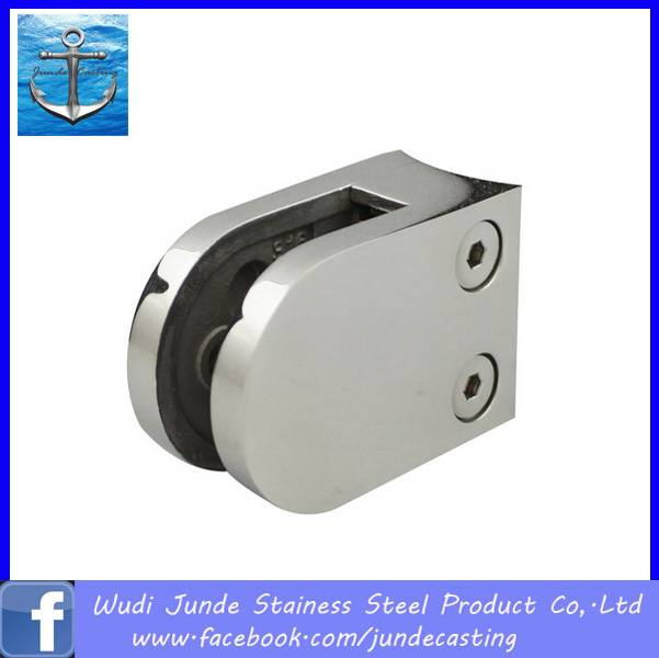 stainless steel round glass clamp