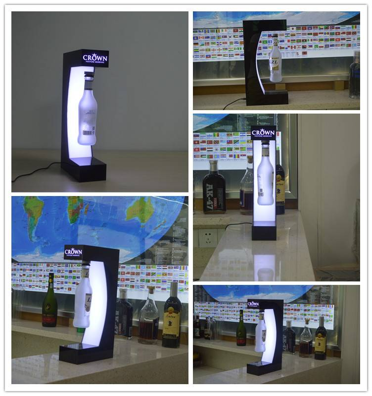 Sale Guangzhou Wholesale Acrylic Display Magnetic Floating Bottle Display