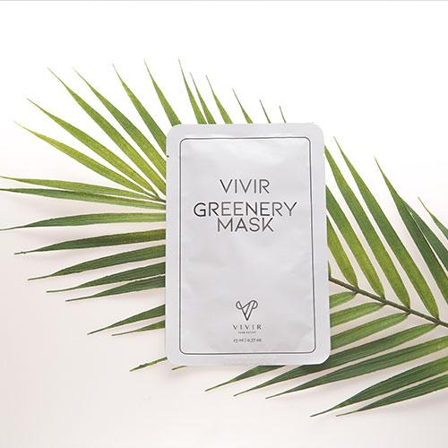 VIVIR GREENERY MASK , Moisturizing Mask Pack that adds vitality made in Korea