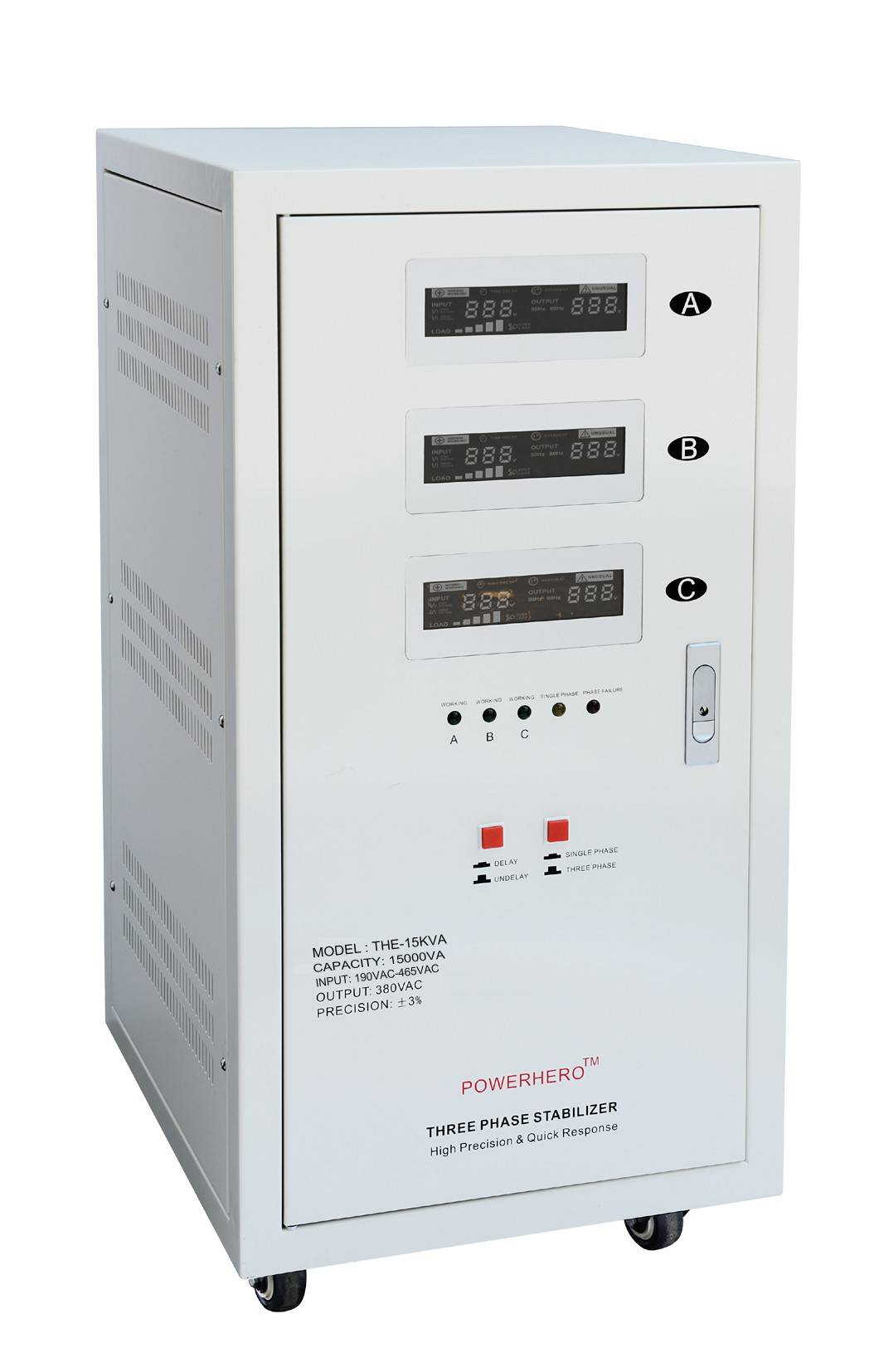 60KVA servo motor three phase stabilizer AVR with high precision