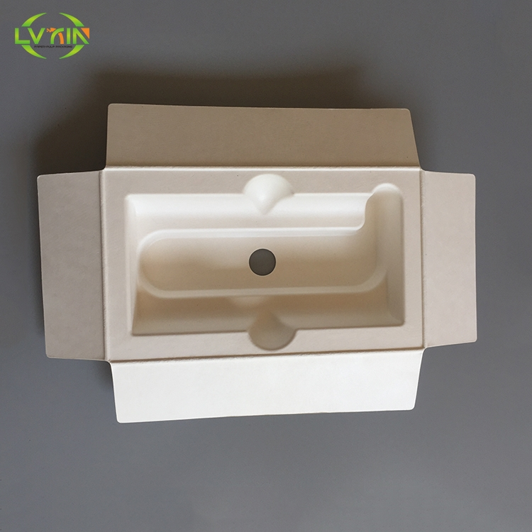 Biodegradable white power bank paper pulp packaging,eco-friendly bagasse packaging,recyclable pulp p