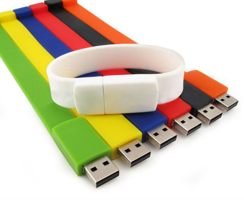 Bulk 1GB wristband usb flash drive silicone bracelet usb drive