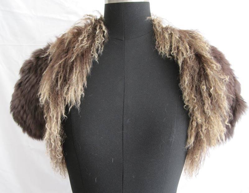 tibet sheep fur and rabbit fur coat