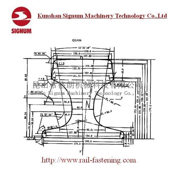 Chinese standard QU120 Steel Rail