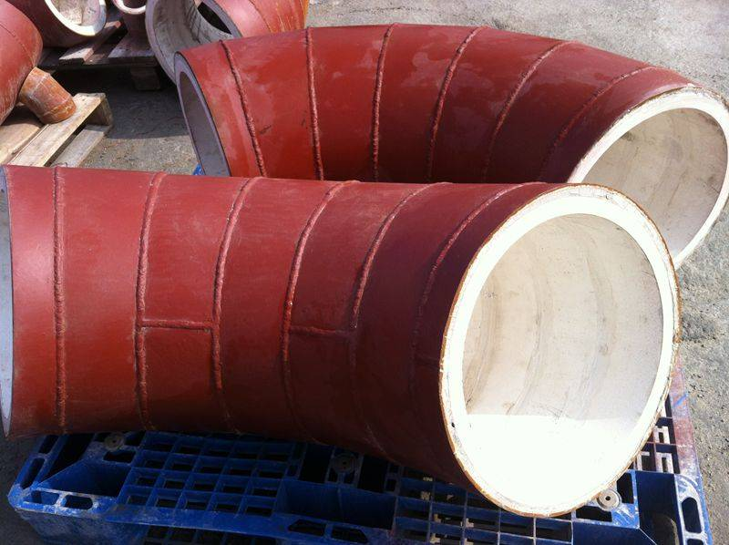 wear resistant 92% alumina ceramic lined steel pipe for cement plant