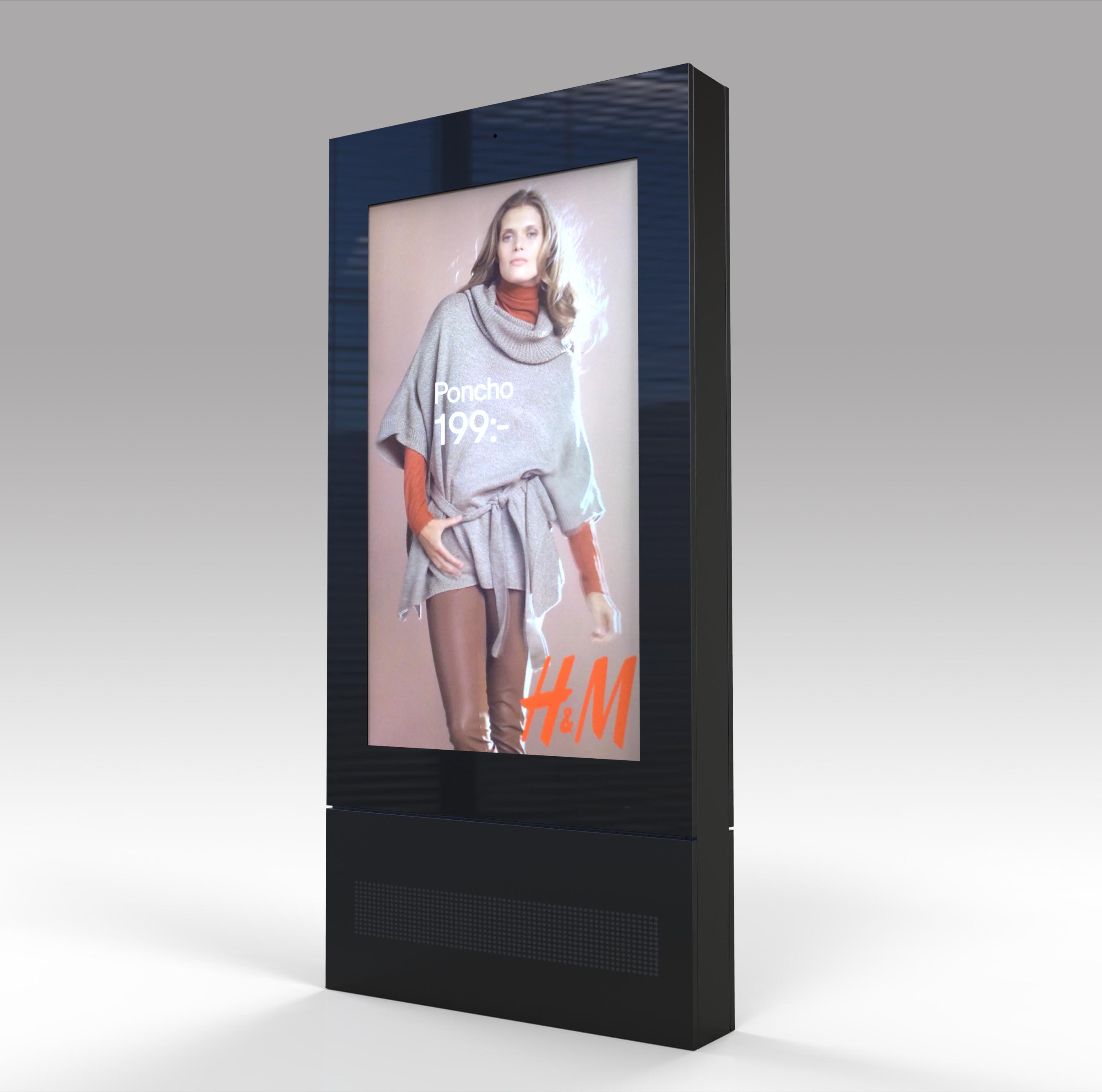 65 inch IP65 waterproof full HD pure outdoor digital signage for advertising display
