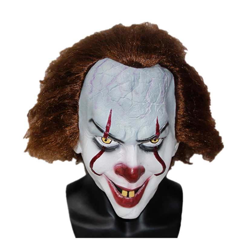 X-MERRY TOY 2017 Movie Stephen King's It Mask Pennywise Horror Clown Joker Mask Handmade X14080