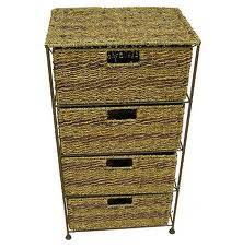 Seagrass and water hyacinth cabinet