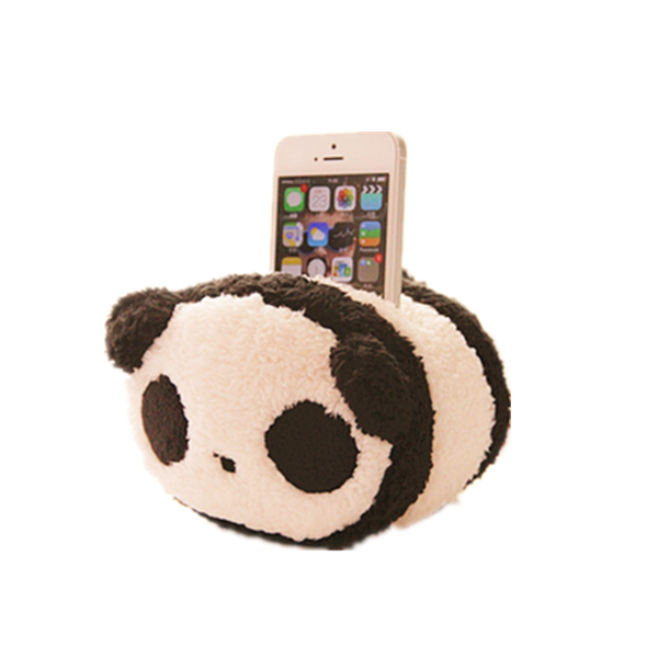 Custom Plush Cute Panda Mobile Phone Holder