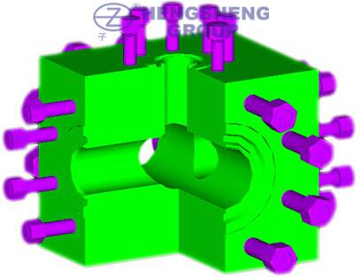 API 6A Block Crosses and Tees and elbow(flanged or studded)