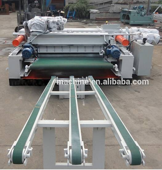 natural veneer peeling machine / rotary veneer cutting machine / timber peeling machine
