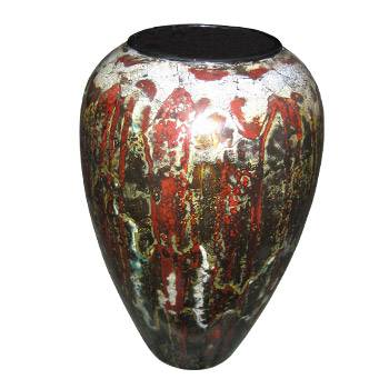 Decorated Lacquer Vase