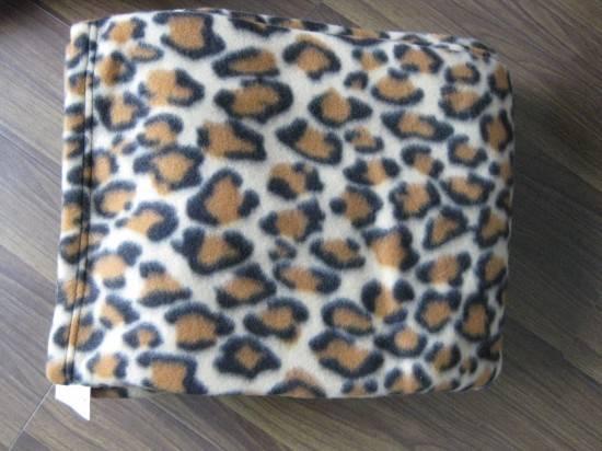 Polar Fleece Fabric Leopard Printed Polyester
