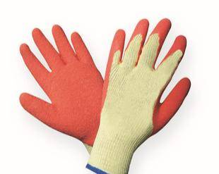 ce standard latex coated working gloves
