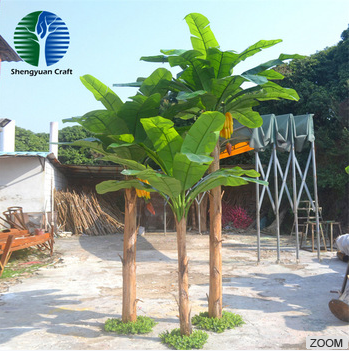 Large artificial decorative banana tree for decoration