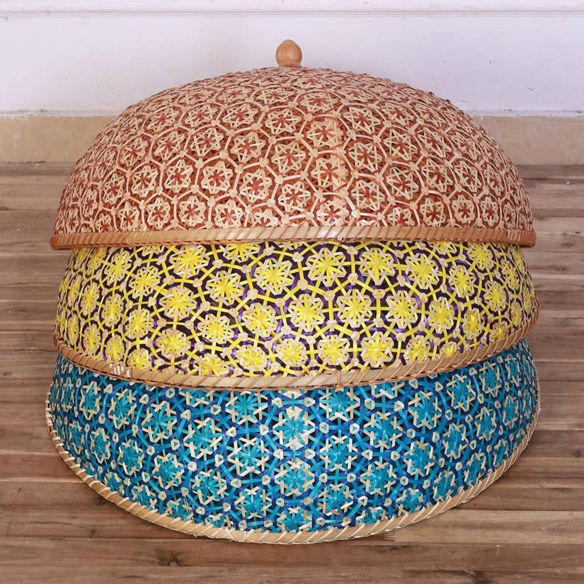 Bamboo woven food cover