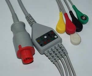 Siemens Trunk Cable,3-Lead ,AHA Siemens 10 pin